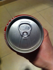 Retro Coke can pull tab top