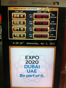 gold prices in Dubai