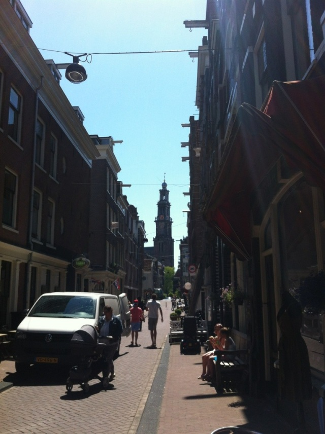 A view of the Westerkerk near the Ann Frank house